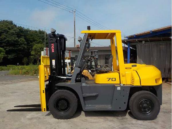 Xe nâng hàng 7 tấn lắp thêm bộ công tác